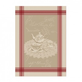 French Tea towel linen / red stripes - Windsor