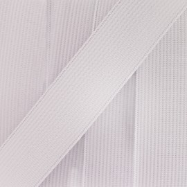 Woven Flat elastic 11 mm - white