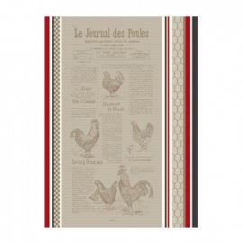 French Tea towel Multico - Le Journal des Poules