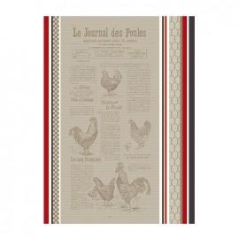 Torchon Jacquard Multico - Le Journal des Poules