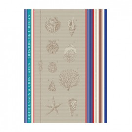 French Tea towel Multico - Saint-Jacques