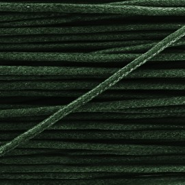 Cordon aspect cuir 2 mm kaki