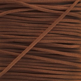 Rattail cord 2,5 mm - chocolate