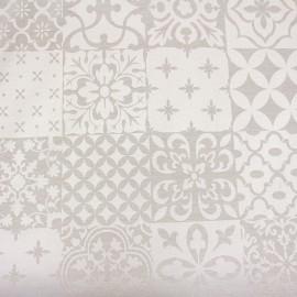 Tissu jacquard Palazzo - lin/blanc x 72cm