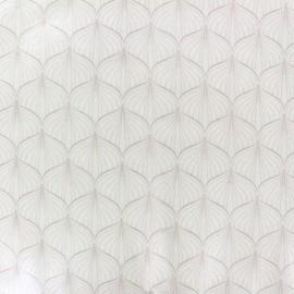 Tissu enduit coton Alli - white/old rose x 10cm