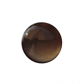 Pearly aspect round-shaped button - taupe
