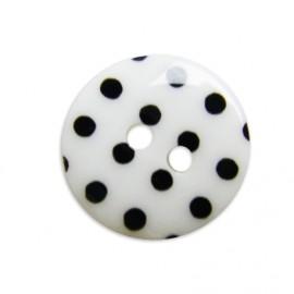 Bouton à pois blanc/noir