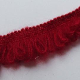 Dentelle élastique froufrou rouge