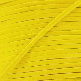 Lacet aspect daim jaune