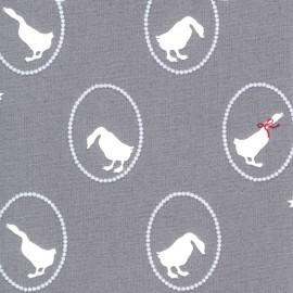 Cotton fabric Gütermann Little Friends - grey x 31cm