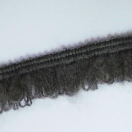 Dentelle élastique froufrou gris
