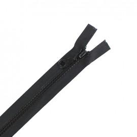 Moulded plastic open end zip eclair® - black