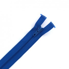 Moulded plastic open end zip eclair® - blue