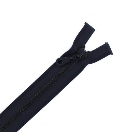 Moulded plastic open end zip eclair® - dark blue