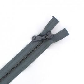 Fermeture Eclair® séparable synthétique moulée - gris foncé