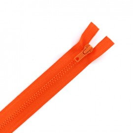 Moulded plastic open end zip eclair® - orangey red