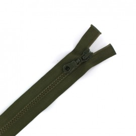 Moulded plastic open end zip eclair® - dark khaki
