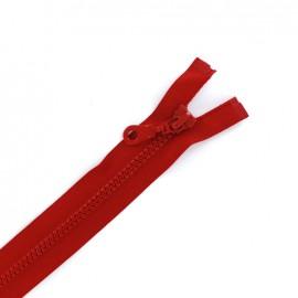 Fermeture Eclair® séparable synthétique moulée - rouge sang