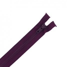 Moulded plastic open end zip eclair® - plum