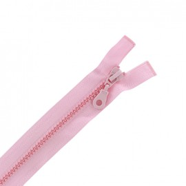 Moulded plastic open end zip eclair® - pink