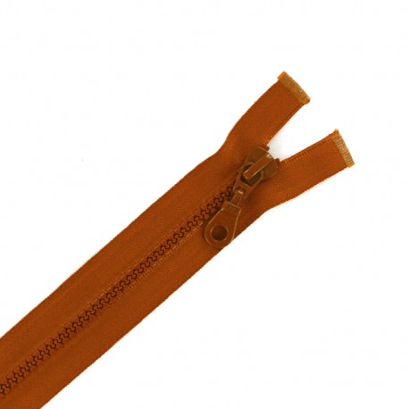 Fermeture Eclair® séparable synthétique moulée - brun caramel