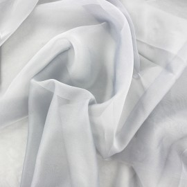 Silky Muslin Fabric - grey x 50cm
