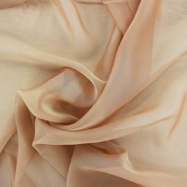 Silky Muslin Fabric - brown gold x 50cm