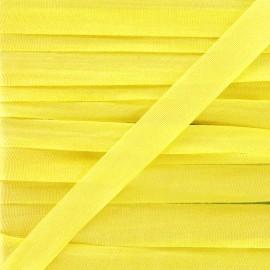 Ruban de soie 10 mm jaune