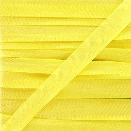 Silk ribbon 10 mm - yellow