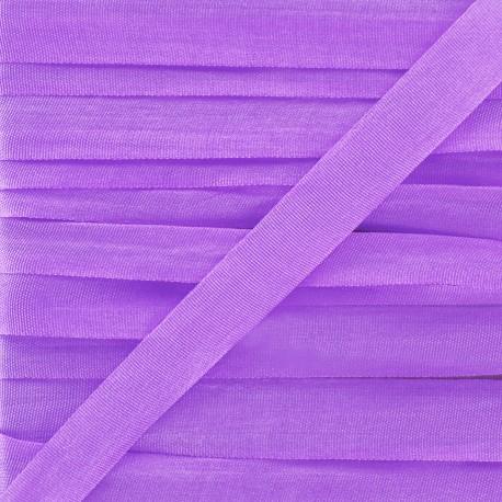 Ruban de soie 10 mm violet
