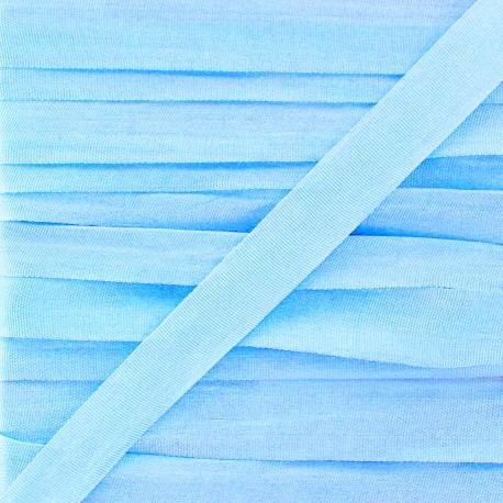 Ruban de soie 10 mm ciel