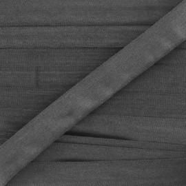 Ruban aspect soie noir 4 mm