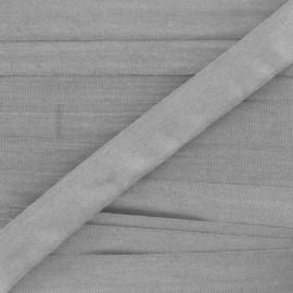 Ruban aspect soie gris souris 4 mm