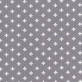 Tissu coton Gütermann Little Friends Lys - gris x 10cm