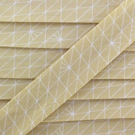 Bias binding Christel G Triangle - frozen sahara x 1m