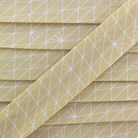 Biais Christel G Triangle - sahara glacé x 1m