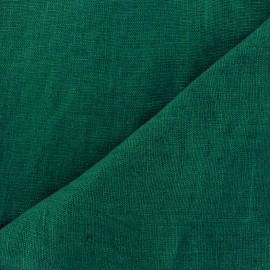 Tissu lin lavé Thevenon - vert bouteille x 10cm