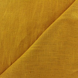 Thevenon washed Linen Fabric - gold x 10cm