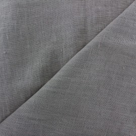 Thevenon washed Linen Fabric - grey mouse x 10cm