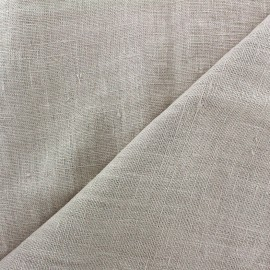 Thevenon washed Linen Fabric - beige x 10cm