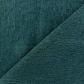 Tissu lin lavé Thevenon - bleu paon x 10cm