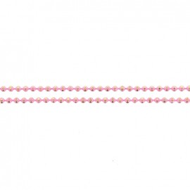 Iridescent small ball chain 1,5 mm - pink x 20cm