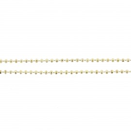 Iridescent small ball chain 1,5 mm - yellow x 20cm