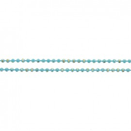 Iridescent small ball chain 1,5 mm - turquoise x 20cm