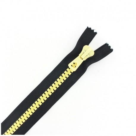 Fermeture Eclair® synthétique bicolore séparable - noir /vanille -