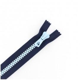 Fermeture Eclair® synthétique bicolore séparable - marine / ciel -