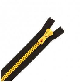 Fermeture Eclair® synthétique bicolore séparable - marron / tournesol