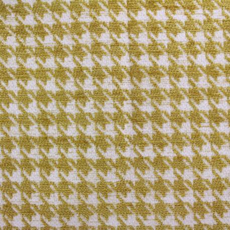 Tissu jacquard velours Boston - moutarde x 10cm