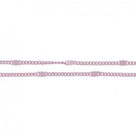 Mesh chain 1,5 mm - mauve x 20cm
