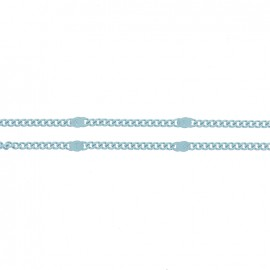 Mesh chain 1,5 mm - turquoise x 20cm
